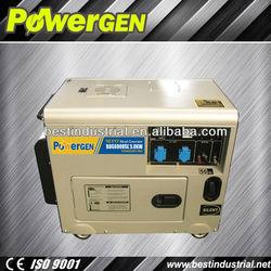 Hot Sale!!!POWERGEN Robust Home Use 5KW Soundproof Diesel Generator