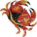 mosaico de vidrio handcut murales de cangrejo