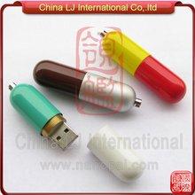 pill shape usb stick, metal alloy capsule shape usb flash drive