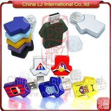abs t-shirt shape usb pen drive, custom print sports shirt usb flash memory