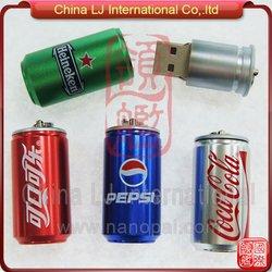 aluminum pop can usb flash drive, beer can shape usb stick, soda can usb pen drive