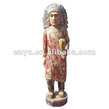 Indiana Statue, Wood sculpture, carved handicrafts