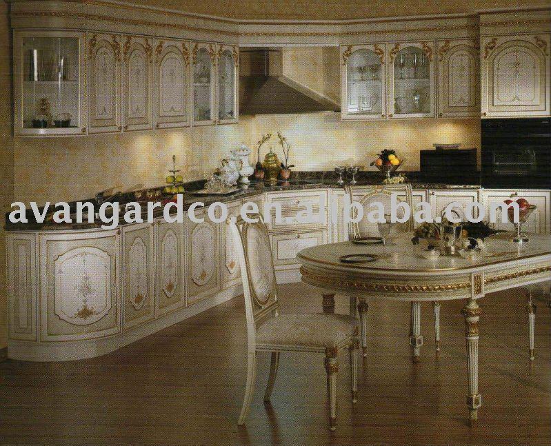 Europeo/stile americano di legno da cucina armadio, colore bianco