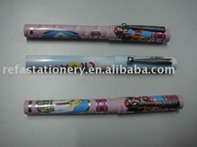 full colour printing logo pen with metal clip
