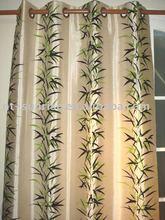 flocked door curtain/window curtain/shower curtain