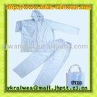 Transparent clear 2pc rainsuit/transparent pvc rain coat