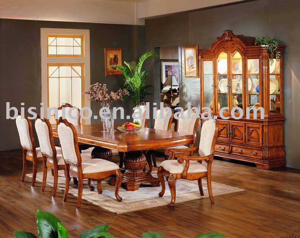 Madera maciza y de la mano talla americana muebles de - Comedores antiguos de madera ...