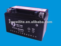 YTX7A-BS(MF) motorcycle storage battery