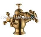 gold color brass bidet mixer 12/E1043