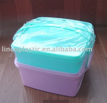 Two Pieces/Set Clear Plastic Food Container Lunch Box