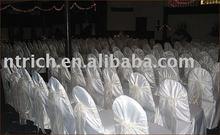 Satin chair covers,hotel/banquet/meeting chair covers,organza sash