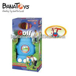 Interesting blue plastic golf club set