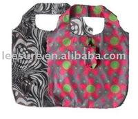 Flower pattern folded shopper bag