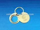 photo frame metal key chain/ round photo frame key holder