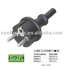Y003-F Schuko plug IP44 IEC884-1 TYPE European VDE power cord for power tools