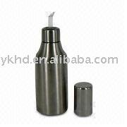 customized oil bottles stainless steel Vinegar drizzler Cruets