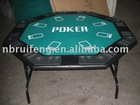 Octagon poker tables with foldable steel leg