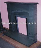 Natural slate fireplace mantel