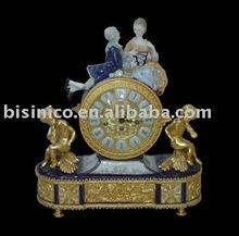 European Antique crafts table clock,gold color,home decoration ceramic, pottery, porcelain(B15030)