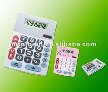8 digits gift Office desktop dual power big key electronic calculator