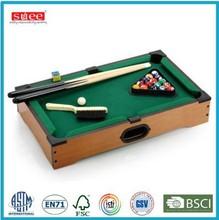 Mini tabletop billiards tables