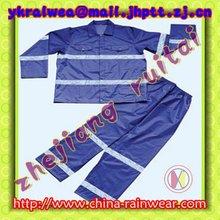 High visibile Rainsuit/Plastic Rain suit/Plastic Rainwear