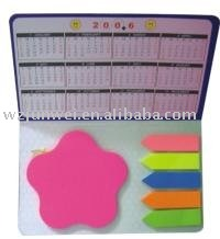ZH-927 shaped sticky note with calendar printing