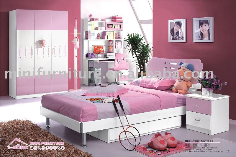 Chambre Grise Bebe : Pink and Purple Girls Bedroom Furniture