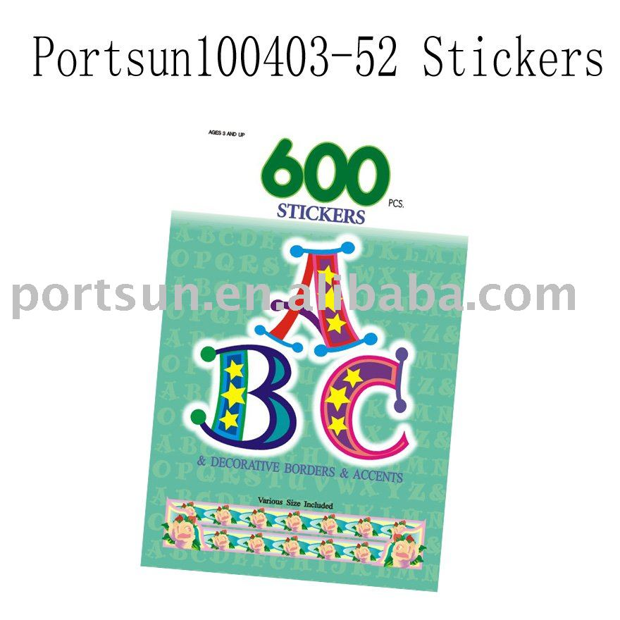 children laser sticker with e-friendly material