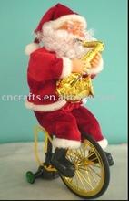 santa claus with ride bike