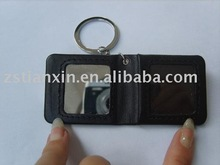 leather keychain /black leather frame photo key ring / fashion nice PU key tag