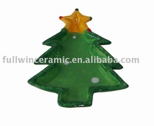 Ceramic Christmas Tree Mini Candy Plate