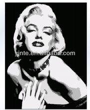 Modern popular decorative handmade Marilyn Monroe fashion picture painting