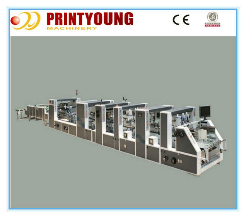 Dossier colleuse 1100 PS / 1450 PS ( plieuse encolleuse ) boîte en carton ondulé faisant la Machine
