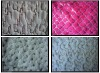 knitted long pile pv fleece fabric with sequin and embroider