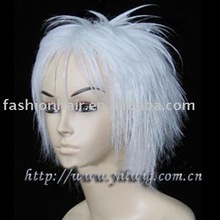 white short male anime cosplay wig