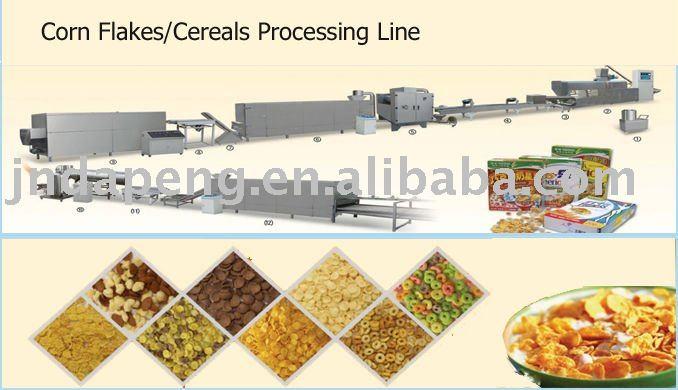 Céréales de petit déjeuner ( flocons de maïs ) ligne de traitement
