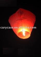 flying paper wishing lanterns