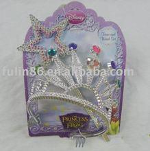Fashion plated plastic princess tiara and wand
