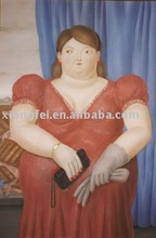 oil painting reproduction from botero style