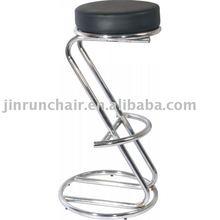 """Modern """"S"""" shape PU sear chromed frame bar stool"""