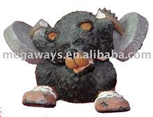 funny bear resin figure