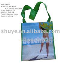 Laminated Non woven Beach Bag