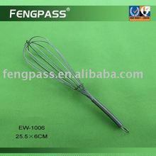 Metal egg whisk , egg beater , silicone egg wisk EW-1006