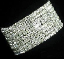 ten rows stretch rhinestone bracelet