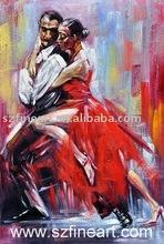 Best Seller Modern Canvas Dancing Oil Painting For Dancing Room