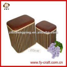 Durable ! Faux leather storage stool box,storage ottoman cubes