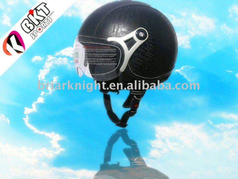 ECE leather Half Face Helmet