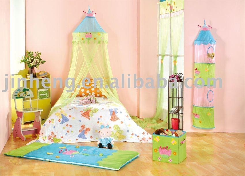 Bacati Pink Netting Flower Basket Bed Canopy | Meijer.com