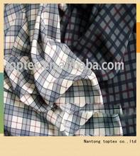 100% cotton yarn dye checks shirt fabric